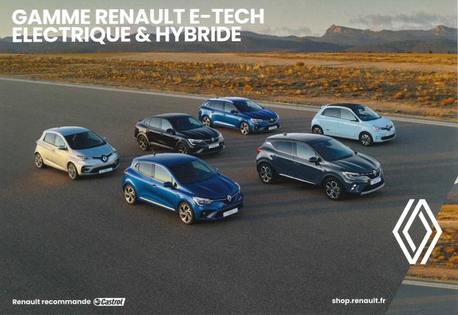 Gamme Renault E-Tech électrique et hybrique